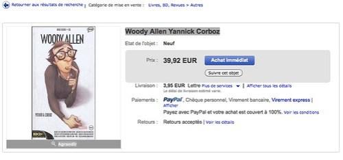 Woody Allen Yannick Corboz en vente sur eBay.fr (fin le 26-juil.-10 21:27:50 Paris) par Ethocom