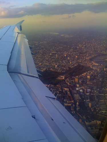 Flying into London