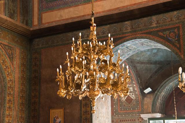 Chandelier in Aghia Sophia, Thessaloniki