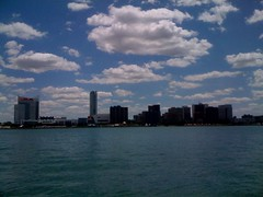 Oh. Canada! The view from downtown Detroit.