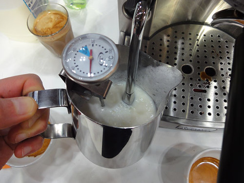 Steaming milk