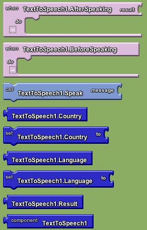 Google app inventor - text to speech