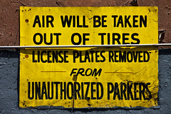 Air will be taken out of tires. . .