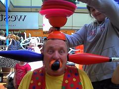 Having Fun Clowning Around