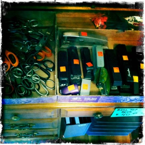 Scissors and staplers
