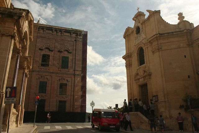 Church of Our Lady of Victory in Triq Nofsinhar street Valletta Malta