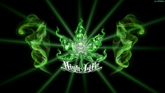 Marijuana High Life2 custom desktop wallpaper HD 720p (1280x720)