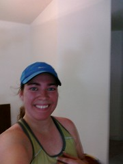 After my 4 mile run...red-faced and a hot mess!