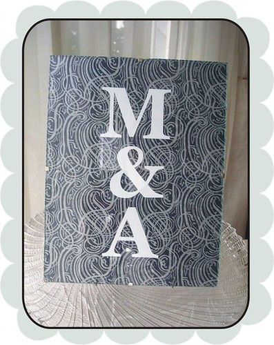 monogram in border