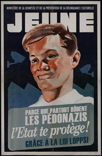 Affiche LOPPSI contre pédonazis