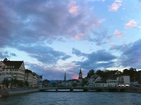 Zurich water-lake front