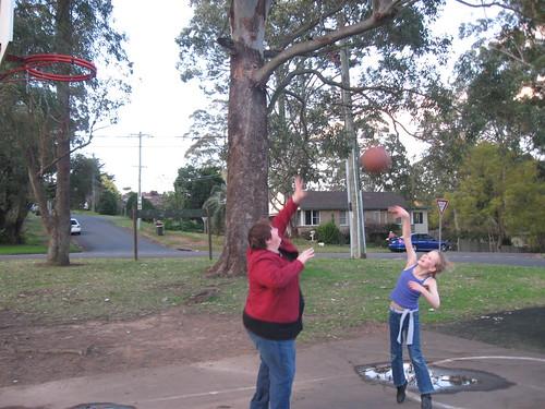 Basketball with mum