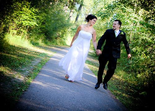 """Skipping""- G&C Wedding Portraits"