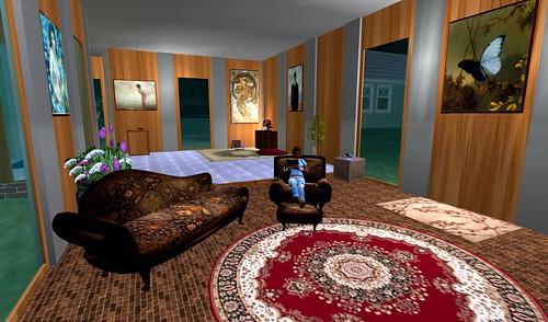 My InWorldz house, interior