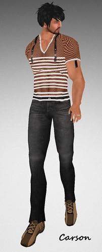 MHOH4 # 153 - Clothes Culture  Triple Threat Shirt and Black Jean