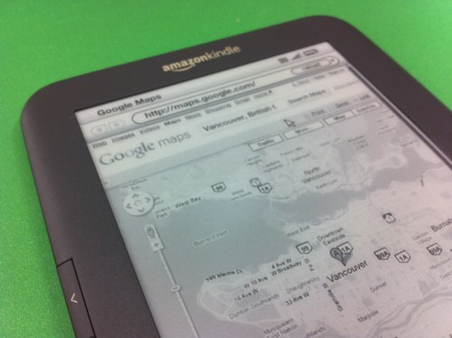 Google Maps works surprisingly well on the Kindle