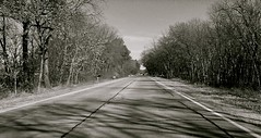 North on the open road...