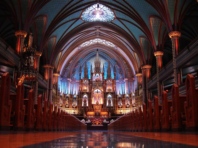 Catedral de Notre Dame em Montreal no Canadá