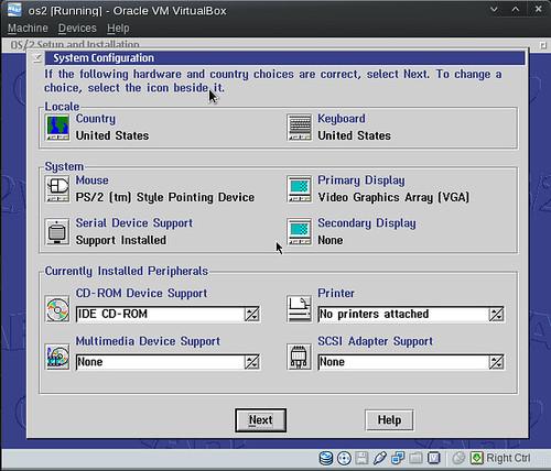 OS/2 Setup