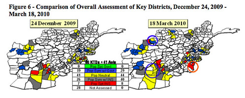 "Government of Islamic Republic of Afghanistan Falling Further Behind Insurgents in ""Sympathy"" or ""Support"" Among Key Areas of Afghanistan"