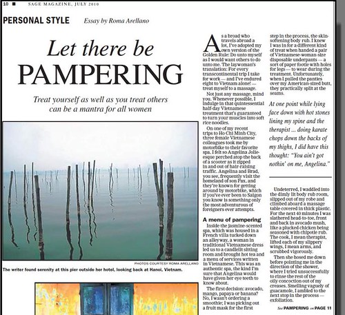 Let there be Pampering (from SAGE)