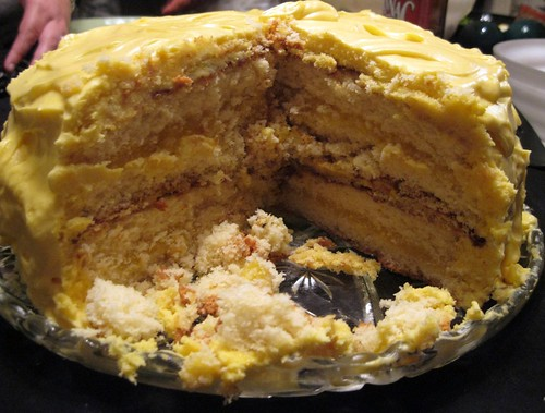 Inside the White Chocolate Lemon Cake