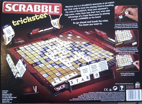 Scrabble Trickster - Boardgame back