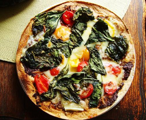 thin-crust pizza