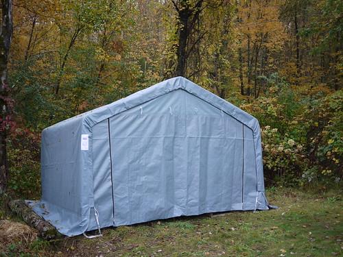 Hay shelter - assembled