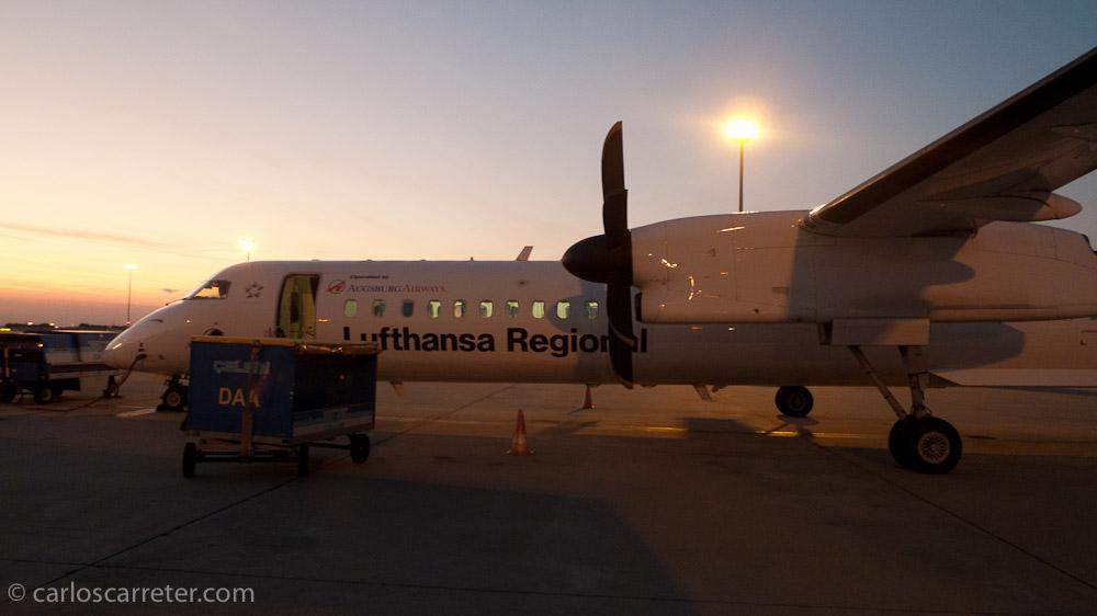 Avión que nos ha traido de Munich a Budapest-Ferihegy
