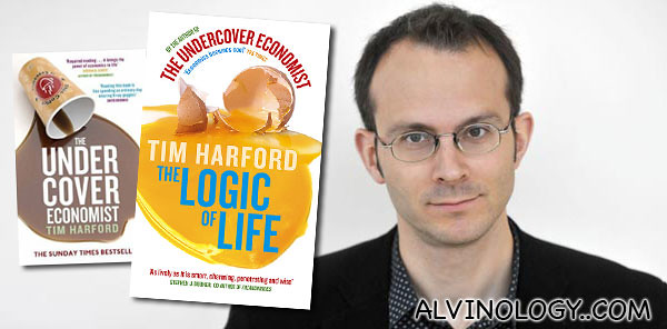 Tim Harford and his two books, The Undercover Economist and The Logic of Life