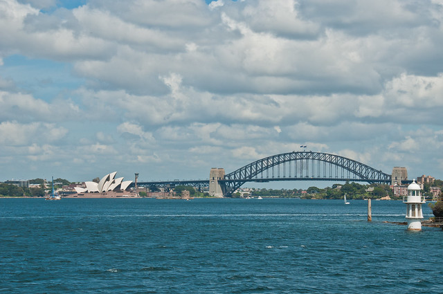 Opera House and Harbour Bridge from the Manly Ferry