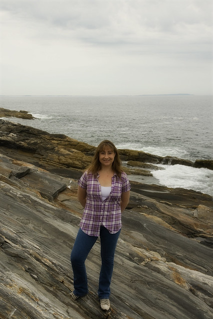 Me, at Pemaquid Point.