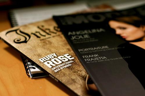 Friday: splurged on magazines