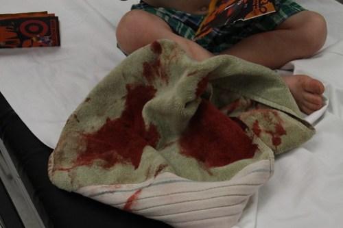 towel at the ER