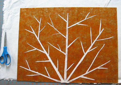 5. Paper Branches on Back of Mica