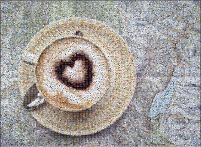 Mosaic coffee map