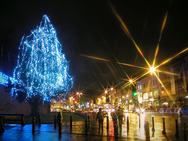 Cardiff City Centre at Christmas time