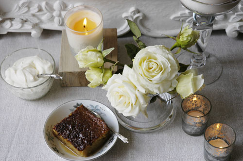 Christmas malva pudding