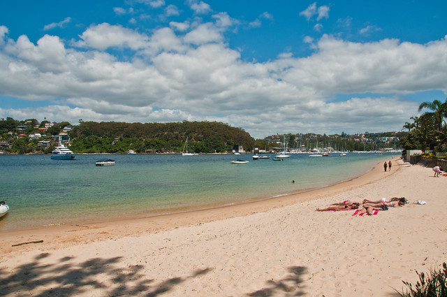 A beach in Clontarf, Sydney Harbour