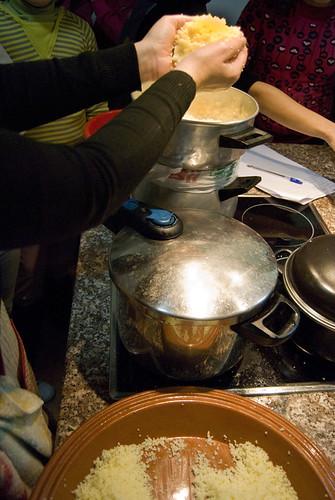 Cociendo el cuscus