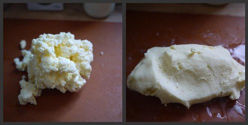 Cultured butter - kneading