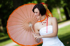 Opening the parasol