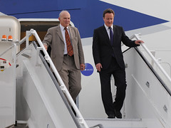 PM and Vince Cable in Delhi