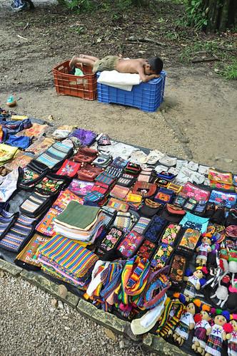Napping boy at Palenque