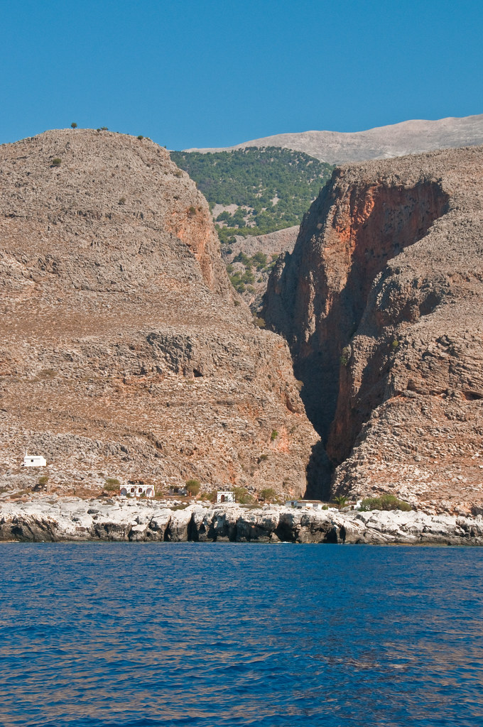The Aradhena Gorge from the sea