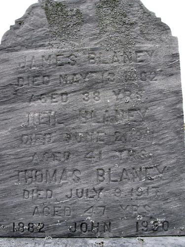 Blaney headstone