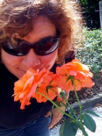 Self Portrait - Sniffing the Roses at the Ringling Museum, Sarasota, Fla.
