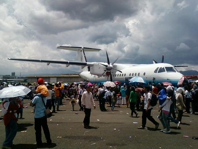 Pesawat N-250, salah satu pesawat yang mewarnai ajang BAS 2010. (Foto: Yudha PS)