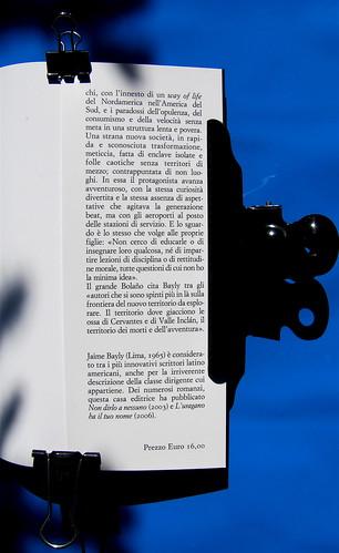 Jaime Bayly, La canaglia sentimentale, nella traduzione di Maria Nicola, Sellerio 2010, [resp. grafica non indicata], risvolto di cop. (part.), 2